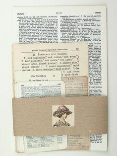 Vintage paper ephemera pack collage pack 35 by LindenTreeVintage