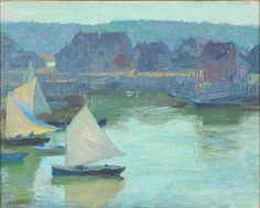 """""""Inner Rockport Harbor,"""" Edward Henry Potthast, oil on canvas, 16 x 20"""", private collection."""
