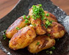 Try this spicy miso-glazed potatoes recipe made with butter, garlic, and chili paste. The miso coats the potatoes giving them a nice crunch. Potato Dishes, Potato Recipes, Meat Recipes, Food Dishes, Side Dishes, Cooking Recipes, Pbs Food, Hungarian Recipes, Side Dish Recipes