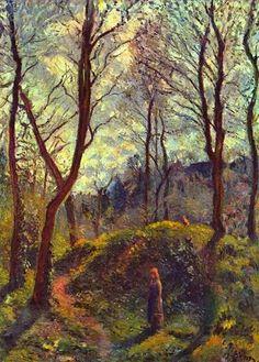Paisaje con los árboles grandes - Camille Pissarro