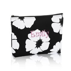 Thirty-One Gifts - Zipper Pouch - White Poppy