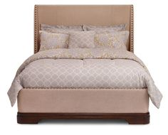 Beds-Waverly Upholstered Panel Bed-Traditional meets timeless
