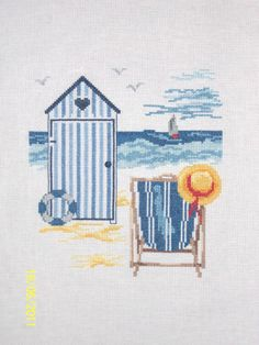 Cross Stitch Sea, Cross Stitch Kits, Counted Cross Stitch Patterns, Cross Stitch Designs, Cross Stitch Embroidery, Rainy Day Crafts, Applique Patterns, Nautical Theme, Le Point
