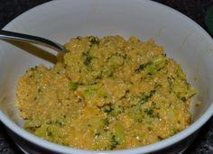 CHEESY Broccoli Cheddar Quinoa