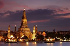 Bangkok, Thailand ... Wat Arun (Temple of the Dawn) on the Chao Phraya River