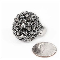 Fireball Dome Style Ring GRAY, Crystal Stretch Ring, Fashion Jewelry Ring Jewelry Rings, Fashion Jewelry, Stud Earrings, Gray, Crystals, Stuff To Buy, Style, Grey, Stylus