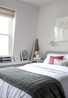 Farrow & Ball Great White painted bedroom