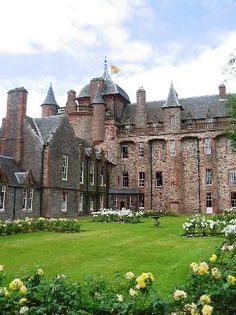 Thirlestane Castle *༺✿* near Lauder in the Borders of Scotland. Thirlestane Castle, originating in the 13th century, is one of the oldest and finest castles in Scotland. #Castlescotland