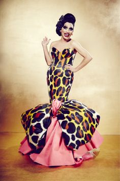 Bianca Del Rio... On the outside: curvy, vivacious, intelligent, retro-glamorous, and throws shade so hilarious that even if it's at you, you'll laugh. On the inside: Caring, has learned from experience, and is willing to be kind and take others under her gloriously flowing winged sleeves. Brilliant lady!