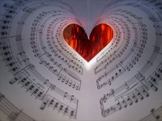 Music notes heart.