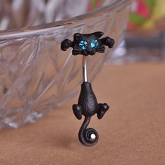 Cat Belly Button Ring 316L Surgical Steel