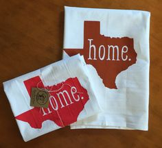Texas State HOME Screen Printed Tea Towel by LoneStarLizzie