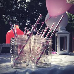 Lily's Pink and White vintage birthday party