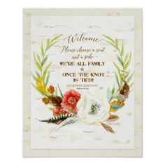 #stylish - #Choose a Seat Rustic BOHO Bohemian Wreath Birch Poster