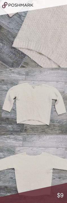 Pink Rose fuzzy sweater NWOT!  -Color is a cream/off white -Super soft -50% Acrylic, 50% Polyamide   ⚜️NO TRADES ⚜️OFFERS WELCOMED! ⚜️BUNDLE TO SAVE ⚜️FEEL FREE TO ASK ANY QUESTIONS! Sweaters