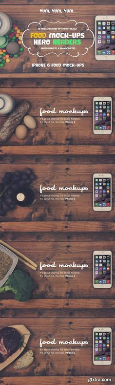 CM - Food Hero Headers iPhone 6 Mock-ups - 84552 12 PSD | LAYERED | CS4+ | 4666 x 3110 px | 300 DPI | RAR 323 MBhttps://goo.gl/IORCHG