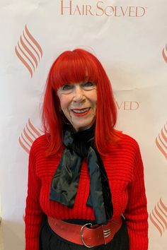 Beryl has been a client at Hair Solved London for many years. She is an actress and model. Her stunning red hair means she always stands out from the crowd. As you know the Enhancer System is bespoke and tailored to the clients unique personal style Thinning Hair Remedies, Natural Hair Growth Remedies, Hair Loss Remedies, Dht Hair Loss, Hair Loss Causes, Herbs For Hair, Hair Specialist, How To Grow Natural Hair, Hair Loss Women