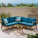Mistana Lavina Outdoor Patio Daybed with Cushions Small Patio Furniture, Brown Furniture, Teak Furniture, Furniture Sets, Garden Furniture, Furniture Layout, Modern Furniture, Furniture Design, Lund