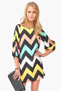 Multicolored Chevron dress<3 Get 20% off Necessary Clothing through http://www.studentrate.com/miami/get-miami-student-deals/Necessary-Clothing-Student-Discount--/0 Enter code FESTIVAL20 at checkout !!