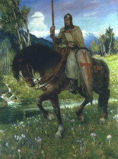 Ferdinand Leeke (1859-1923), Parsifal en Quête du Saint Graal - 1911