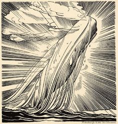 "Rockwell Kent (June was an American painter, printmaker, illustrator, and writer. something-whimsical: "" Rockwell Kent illustration for Moby Dick "" Rockwell Kent, Gravure Illustration, Illustration Art, Ink Illustrations, Art Of Memory, Moby Dick, White Whale, American Artists, Printmaking"