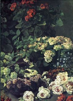 Dahlias 2, 1883 by Claude Monet. Impressionism. flower painting