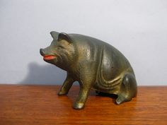 Antique Cast Iron Pig Bank A.C. Williams by BBatEmporium on Etsy