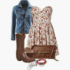 Western outfits, dresses with cowboy boots, saturday outfit, stylish eve, b Church Outfits, Outfits For Teens, Girl Outfits, Cute Outfits, Boot Outfits, Church Clothes, Fashionable Outfits, Family Outfits, School Outfits