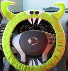 Pink Bell Automotive 22-1-53210-1A Universal Shaggy Steering Wheel Cover