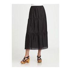 Eileen Fisher Silk Maxi Skirt - Black