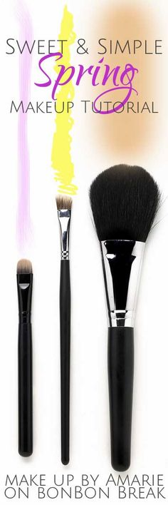 Simple and Sweet spring makeup tutorial - love this fresh look