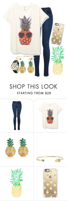 """Be a pineapple: stand tall, wear a crown, and be sweet on the inside🍍"" by rachel-danca ❤ liked on Polyvore featuring MBLife.com, Armadoro, Casetify and Olivia Pratt"