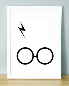 Harry Potter Glasses and Scar print Harry Potter Poster, Harry Potter Nursery, Harry Potter Decor, Harry Potter Love, Harry Potter Glasses, Mischief Managed, My New Room, Hogwarts, Geek Stuff