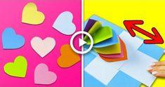 Varieties Of Greeting Cards. 10 Cute & Easy Greeting & Pop up Cards Idea Valentines Bricolage, Easy Valentine Crafts, Easy Paper Crafts, Kids Crafts, Diy Paper, Diy Holiday Cards, Diy Christmas Gifts, Cards Diy, Diy Cards Pop Up