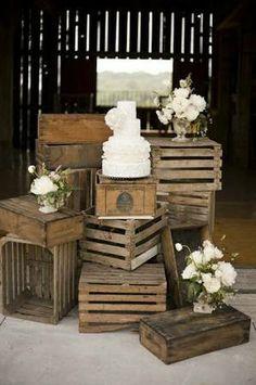 VintAGE RENTALS & DECORE' - Wedding CRATES @Catherine Barr-Levu   interesting idea, huh?