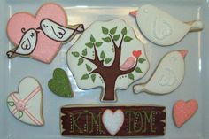 30th Wedding Anniversary Cookies