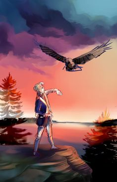 Hetalia- The bald eagle was chosen on June 20, 1782 as the emblem of the United States of America, because of its long life, great strength, majestic looks, and also because it was then believed to exist only on the North American continent.