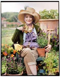 Perennially fresh - Jo Malone's Herb Garden collection - featuring Danish-born actress Gitte Lee, bride of legendary Dracula star, Sir Christopher Giorgio Armani, Thats Not My Age, Flowers London, Lee, Advanced Style, Jo Malone, Old Models, Herb Garden, Garden Boxes