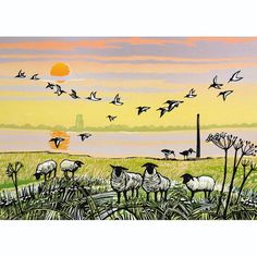 A fine art greeting card by printmaker Rob Barnes, blank inside for your own message. Our greeting cards are printed on beautiful, premium FSC-approved board. Woodblock Print, Close Image, Beautiful Paintings, Norfolk, Natural History, Printmaking, Screen Printing, My Arts, Fine Art