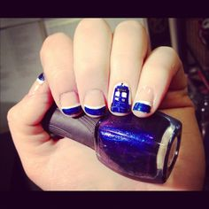Doctor Who Tardis nails