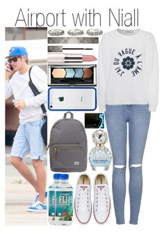 """""""Airport with Niall"""" by fashion-onedirection ❤ liked on Polyvore featuring BlissfulCASE, Burberry, Topshop, AG Adriano Goldschmied, Ugo Cacciatori, Maybelline, Herschel Supply Co. and Marc Jacobs"""
