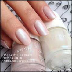 Joe Fresh Ice over Joe Fresh Pink Pearl  - Spring 2015. Click on thru for collection swatches!