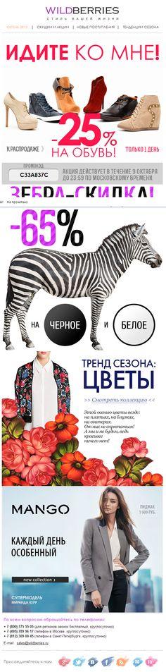 Письмо «ИДИ КО МНЕ! Обувь со скидкой только сегодня! + ЗЕБРА – акция!» — WILDBERRIES — Яндекс.Почта | Awesome Screenshot