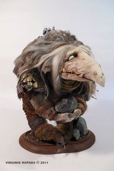 Virginie Ropars__A TROLL ... have a look at the fantastic work of David Thiérrée and his works on Trolls that inspired me this Troll guy... http://www.facebook.com/pages/David-Thiérrée/165504642288