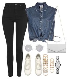 """""""Untitled #670"""" by r0sesandtea ❤ liked on Polyvore featuring Topshop, Jean-Paul Gaultier, H&M, Forever 21, Akira, Christian Dior and Michael Kors"""