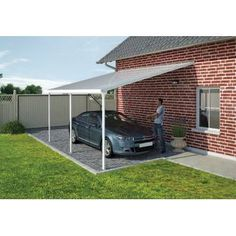 Shop Palram carports for the most modern, updated carport options. Palram offers a full line of both carports and patio covers for the home as well as awnings. Diy Pergola, Gazebo, Pergola Cost, Pergola Carport, Pergola Canopy, Cheap Pergola, Wooden Pergola, Outdoor Pergola, Pergola Shade