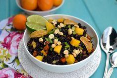Black Rice Salad with Mangoes
