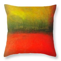 Poppy Throw Pillow featuring the painting Poppy Field At Sunset by Vesna Antic