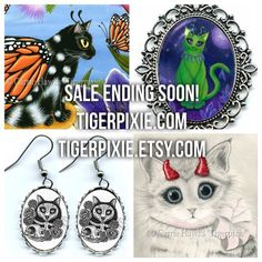 Sale Ending Soon! Tigerpixie.com & Tigerpixie.Etsy.com 20% Off Now through Saturday, January 7, 2017. Don't miss out! The prices are already marked at 20% off so there are no coupon codes to deal with. Original Paintings, LE Canvas Prints, Jewelry & more!