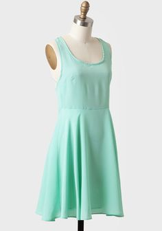 Spring Paradise Strappy Back Dress | Modern Vintage Mint Combinations